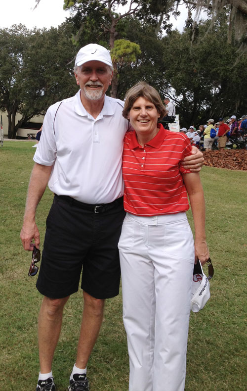 Barb & husband Mark Legends Tour Championship 2013
