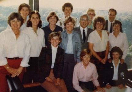 Barb & LPGA Team - Pioneer Cup 1982 - L to R: Pat Bradley, Beth Daniel, Janet Coles, Barb Moxness, Sandra Palmer, Kathy Whitworth, Sandra Haynie, Kathy Postlewait, Sally Little, Hollis Stacey, Patti Sheehan