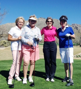 LPGA Legends Tina Tombs, JoAnne Carner, Barb, Rosie Jones 2013