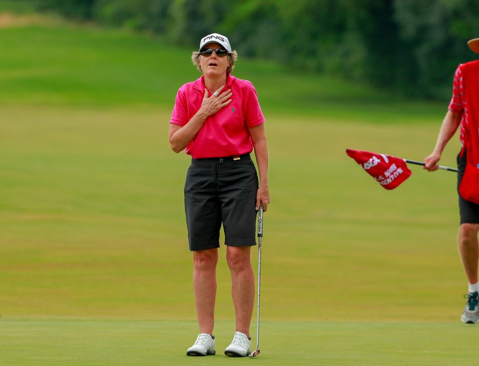On the third round of the 2018 U.S. Senior Women's Open