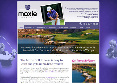 A New Innovative Moxie Golf Academy Website